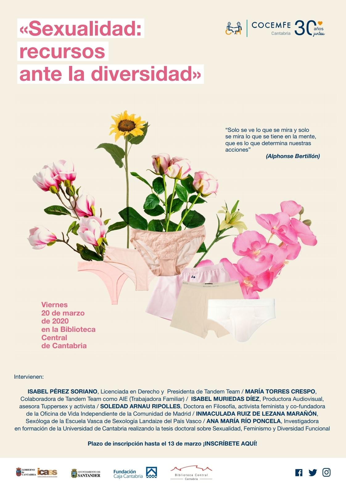 El grupo de trabajo de sexualidad de COCEMFE Cantabria sigue trabajando en la jornada Sexualidad: recursos ante la diversidad