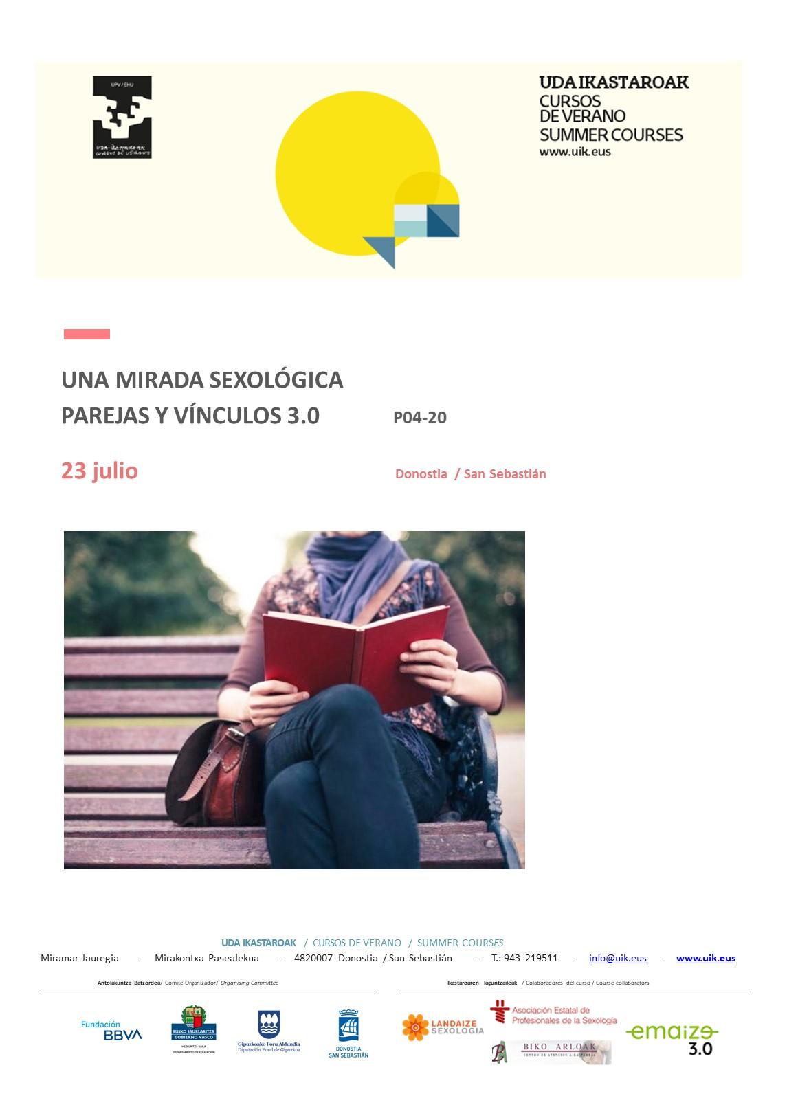 Curso de verano UPV/EHU. UNA MIRADA SEXOLÓGICA PAREJAS Y VÍNCULOS 3.0
